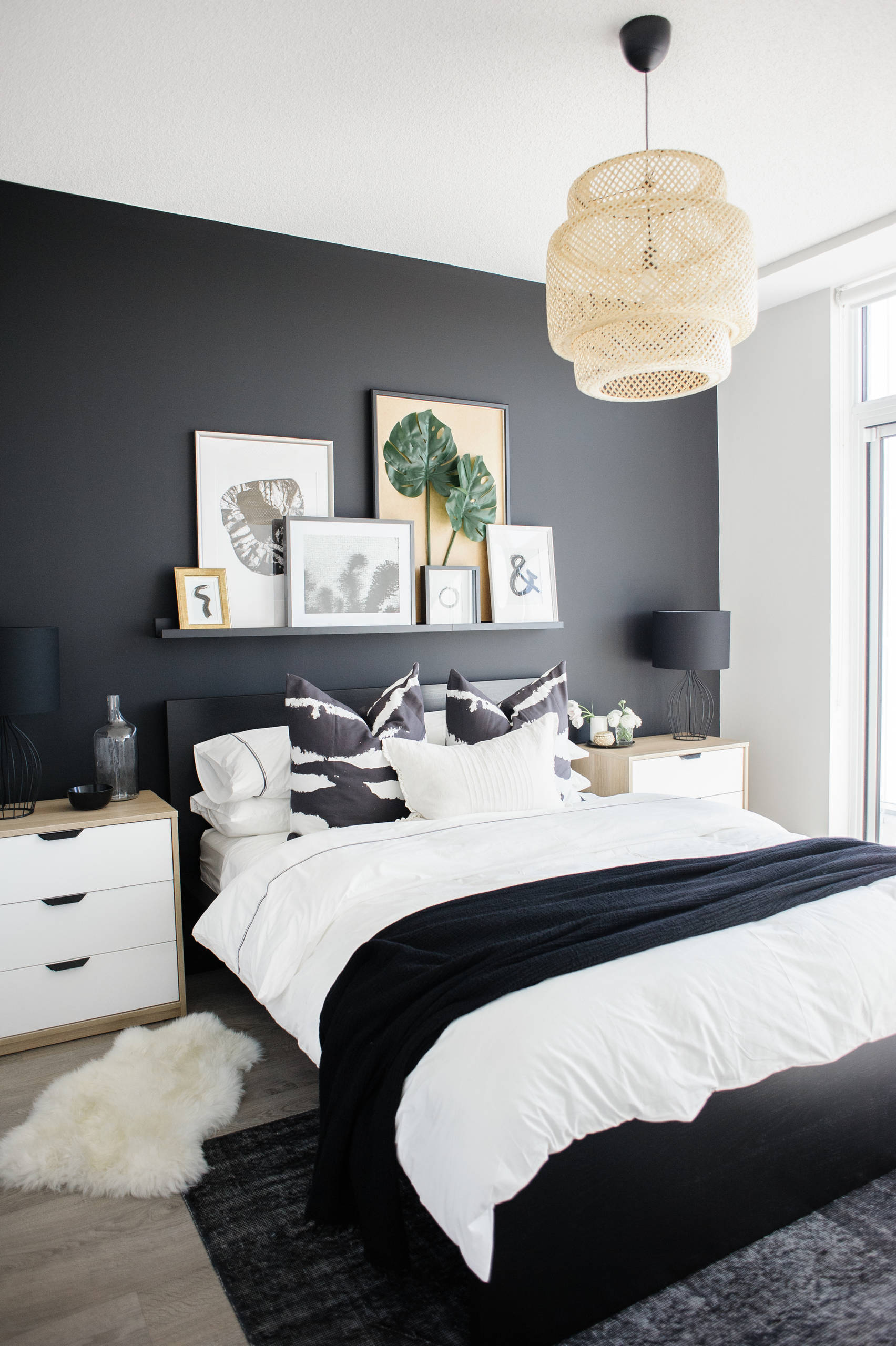 75 Beautiful Bedroom With Black Walls Pictures Ideas February 2021 Houzz