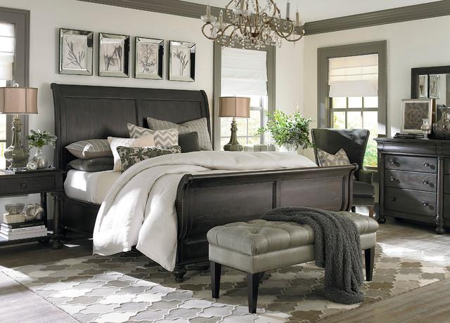 Emporium Sleigh Bed by Bassett Furniture Contemporary