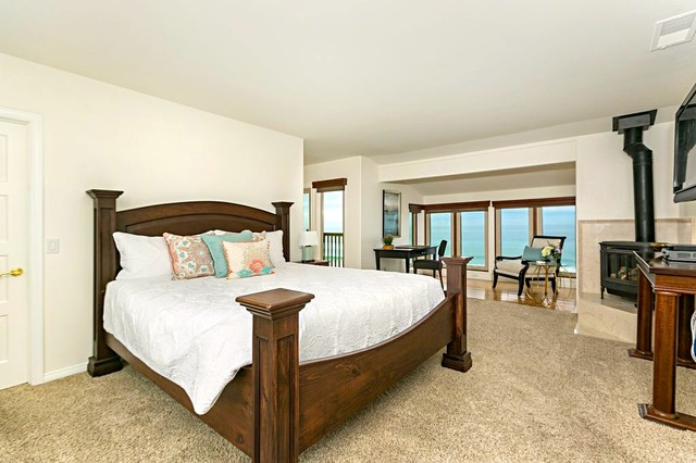 Encinitas Luxury Home Staging Transitional Bedroom