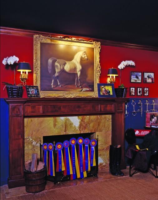 Equestrian Bedroom Traditional Bedroom Los Angeles