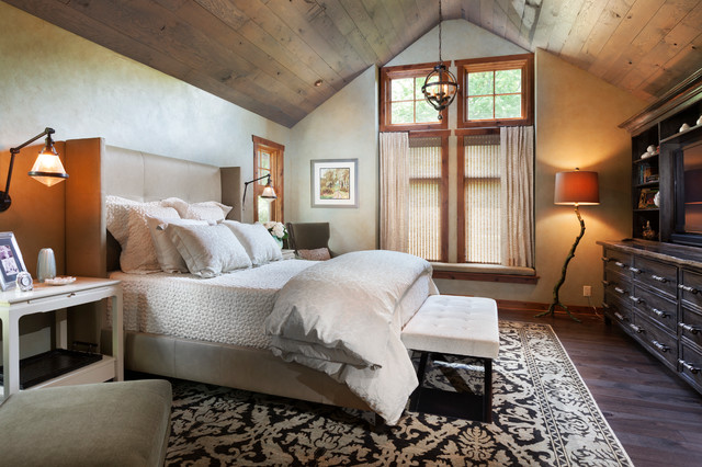 Equestrian Retreat Rustic Bedroom Milwaukee By