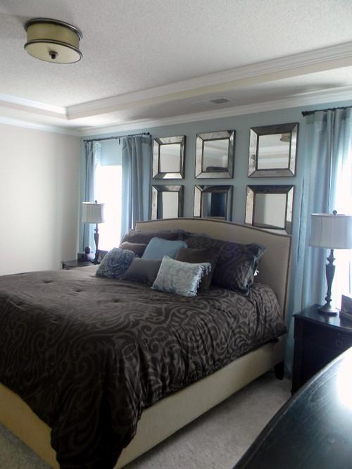 Contemporary Bedroom in Blue