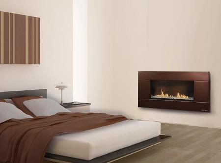 Escea Indoor Gas Florentine Bronze Fireplace Ferro Front Contemporary Bedroom Los Angeles By Directfireplace