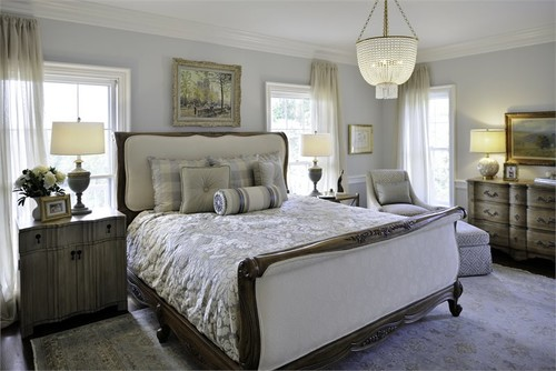 European Ladue Guest Bedroom