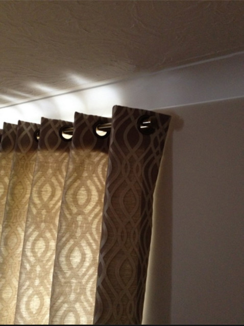 Eyelet Curtains Contemporary Bedroom Hertfordshire