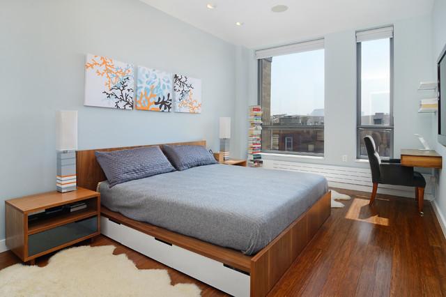 Fab 2 bedroom in Hoboken's Premier Green Buidling contemporary-bedroom