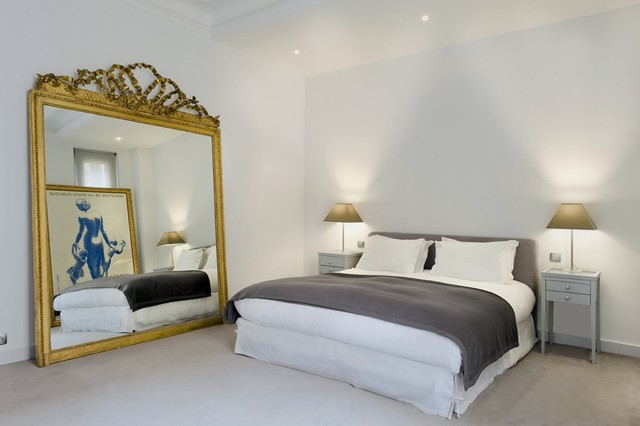Fab paris contemporary apartment contemporain chambre for Acheter un miroir