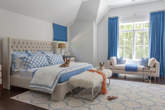 Fair Hills - Long Island, New York transitional-bedroom