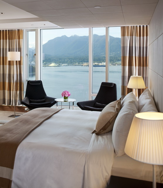 Fairmont Pacific Rim contemporary bedroom