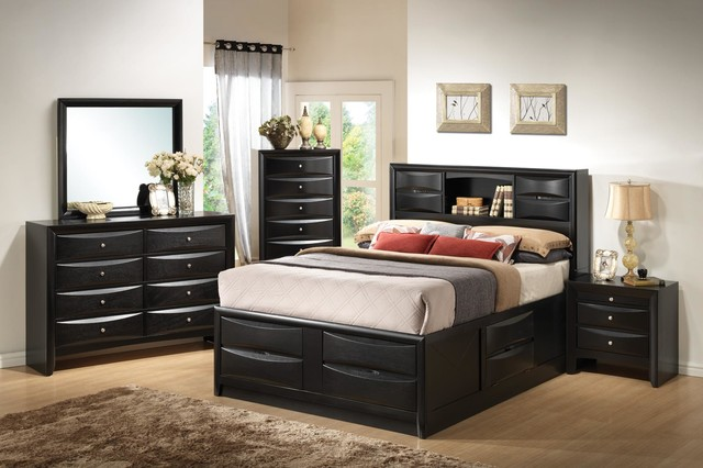 Fairview Platform Storage Bedroom Set with Drawers - Contemporary ...