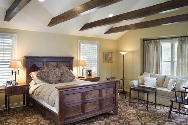 Fairway Ranch Renovation Master Bedroom Traditional Bedroom Kansas City By Rothers: traditional rustic master bedroom