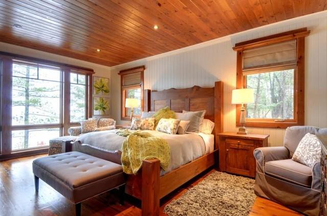 Fairy Lake Home rustic-bedroom
