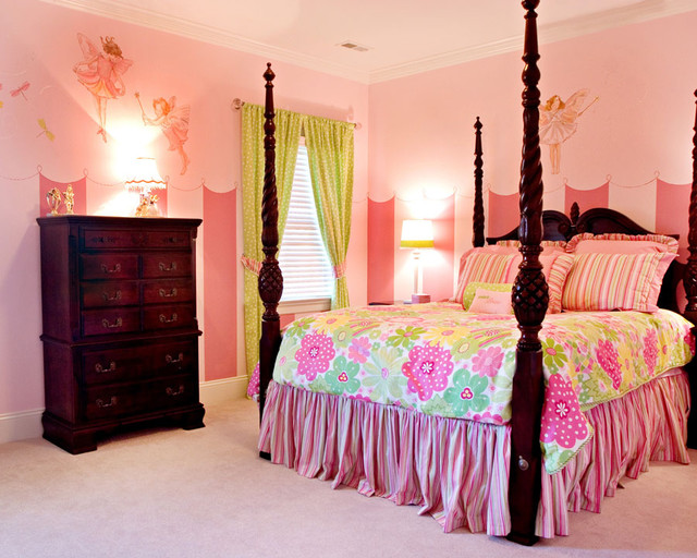 Fairy princess bedroom traditional bedroom charlotte for Fairy princess bedroom ideas