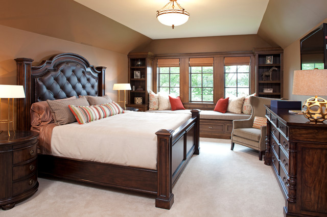 dark wood for furniture.  wood elegant carpeted bedroom photo in minneapolis with brown walls on dark wood for furniture l