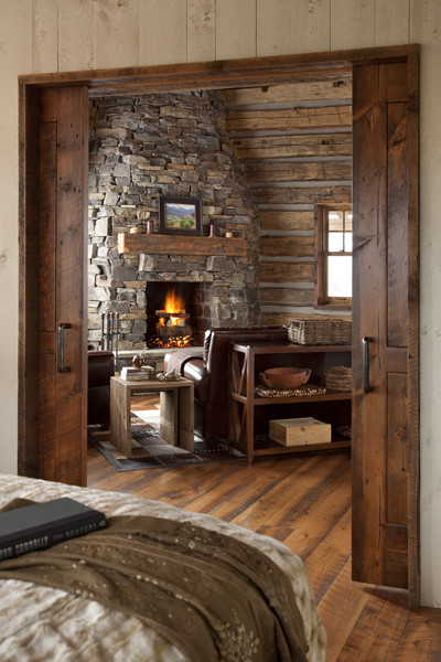 Family Cabin Retreat rustic-bedroom
