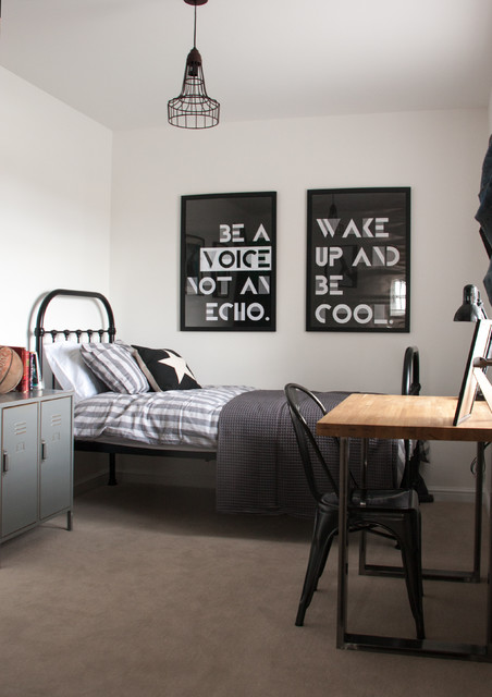 Family Home with Character transitional-bedroom