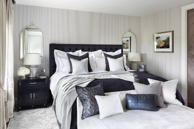 family residence traditional bedroom london by oliver burns