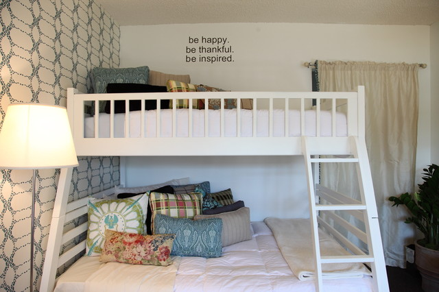 Family Shelter Adopted Room transitional-bedroom