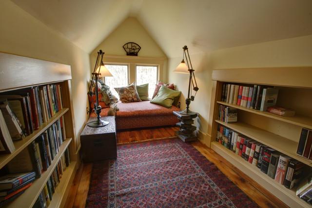 Farmhouse Attic Master Suite Bedroom