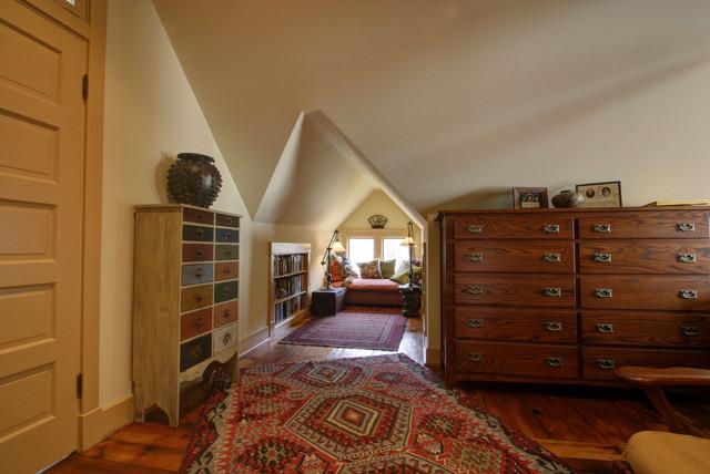Farmhouse Attic Master Suite Farmhouse Bedroom