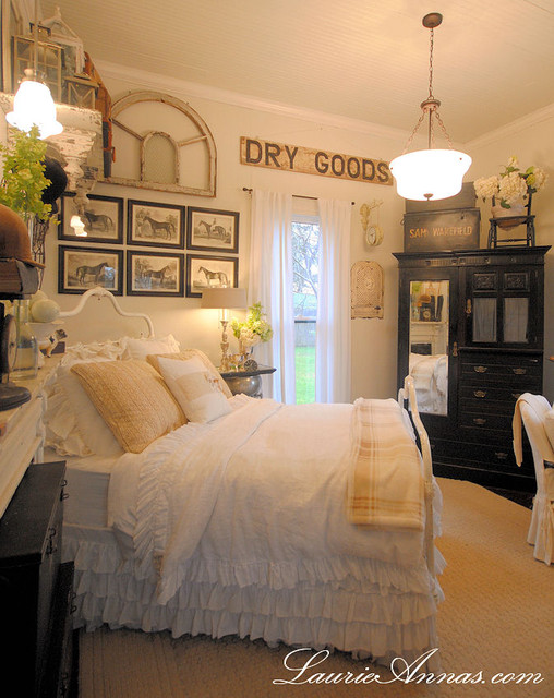 Farmhouse bedroom farmhouse bedroom dallas for Farmhouse style bed