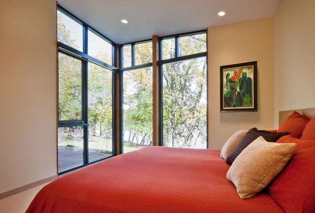 Farquar Lake Residence Modern Bedroom Minneapolis