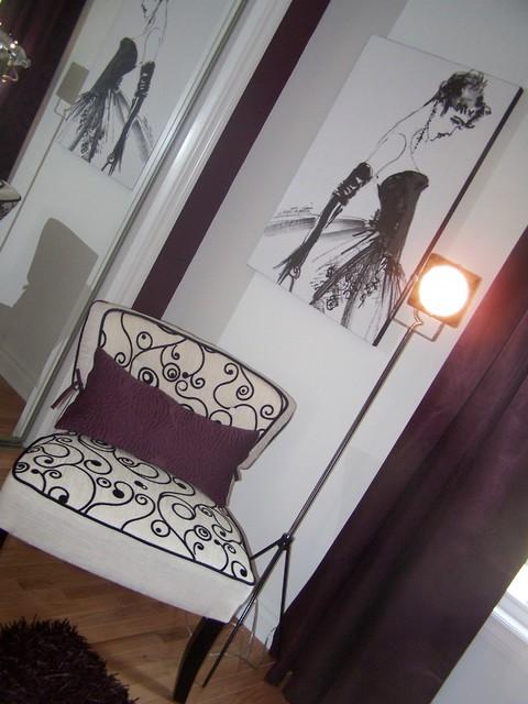 Fashion Girl Teen Bedroom in Plum modern-bedroom