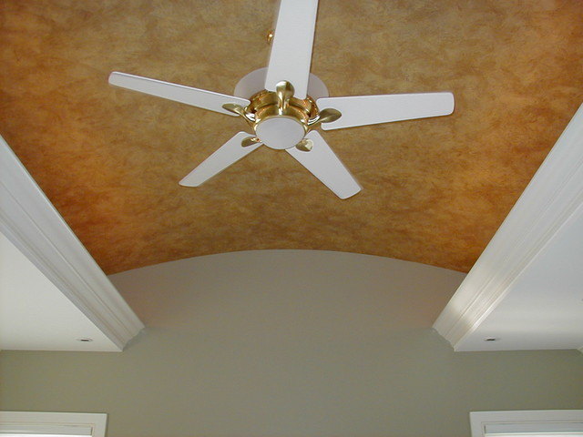 Faux painted barrel ceiling contemporary-bedroom