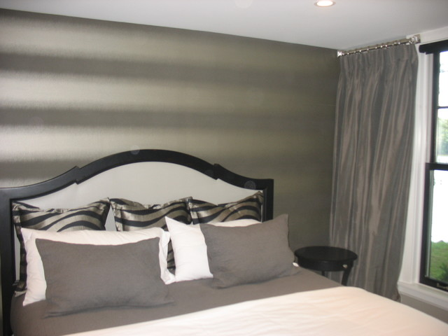 Feature Walls Contemporary Bedroom Minneapolis By