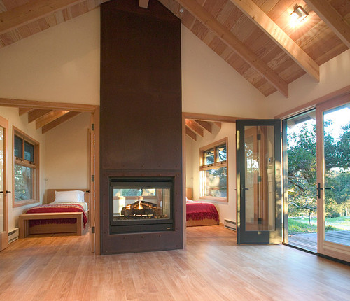 Interesting doublesided fireplace please would you share for Open sided fireplace