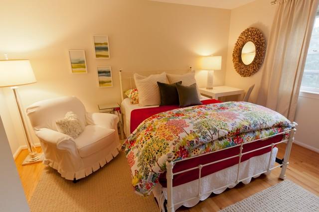 Feminine Master Suite Eclectic Bedroom DC Metro by