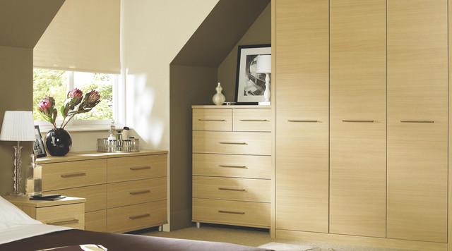 Ferra Oak Modular Bedroom Furniture System Contemporary