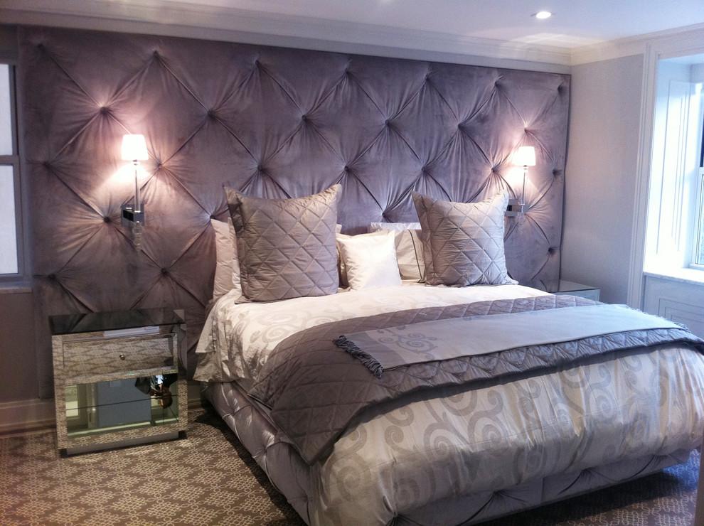 Example of a trendy bedroom design in New York