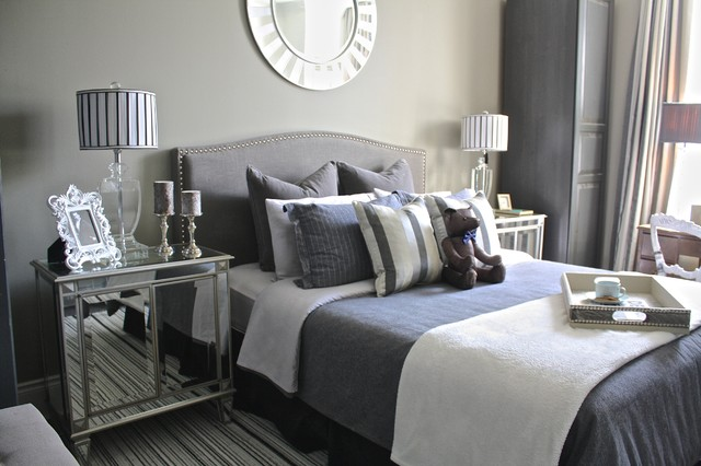 Fifty shades of grey transitional bedroom toronto 50 shades of grey house