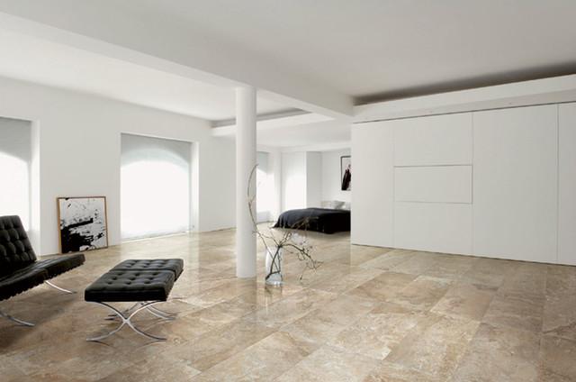 Example Of A Minimalist Bedroom Design In Calgary