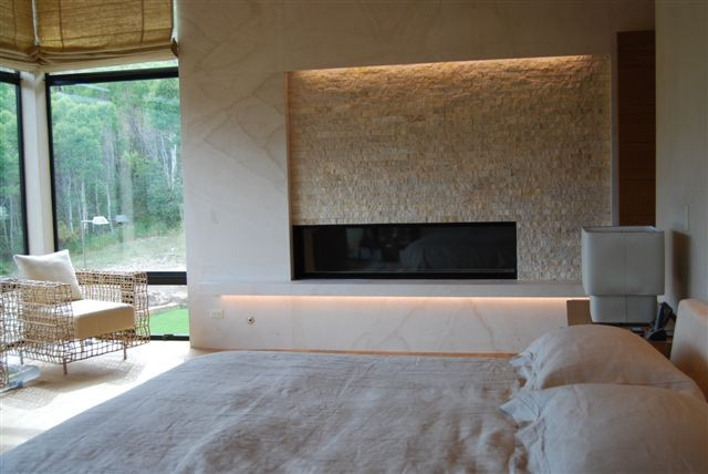 Fireplace Lighting Bedroom Denver By 186 Lighting