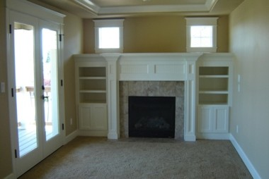 Fireplace mantles traditional-bedroom