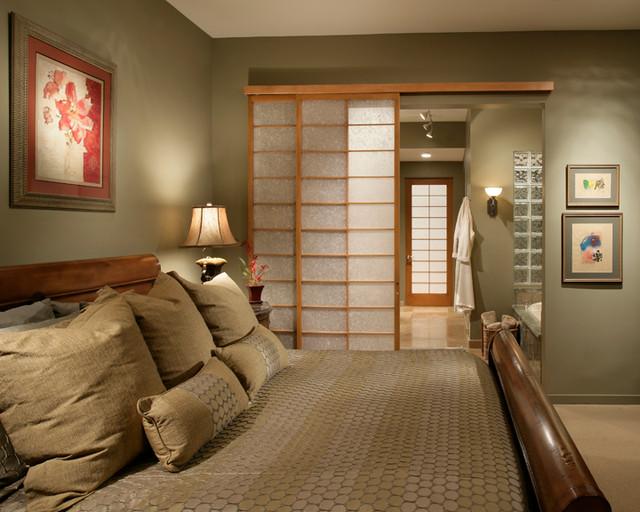 Firerock custom home warm modern asian bedroom for Modern asian bedroom
