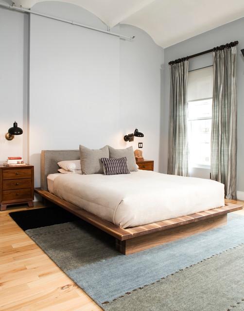Flatiron loft renovation eclectic bedroom new york for New york loft interior design