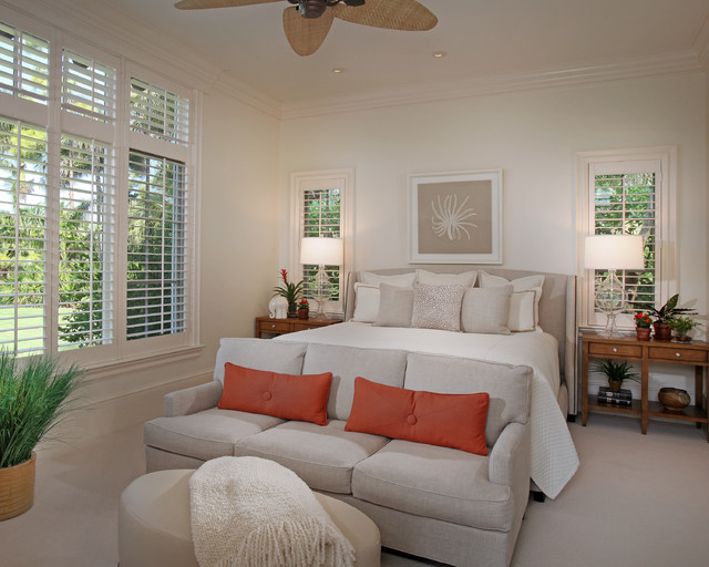 Florida Vacation Home- Master Bedroom contemporary bedroom