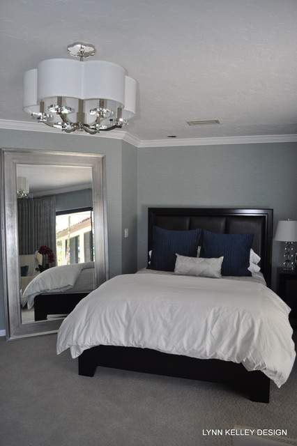 For the LOVE of blue! transitional-bedroom