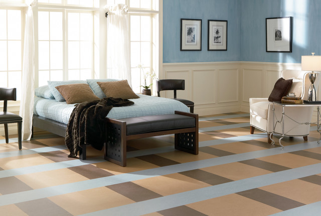 forbo marmoleum click natural linoleum flooring modern bedroom