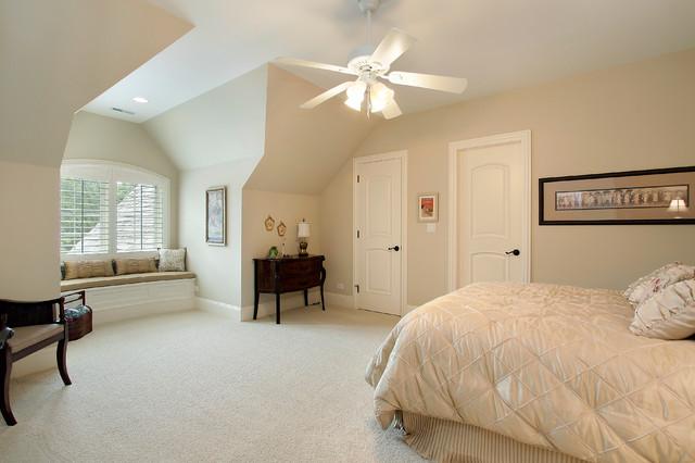 Elegant carpeted bedroom photo in Denver