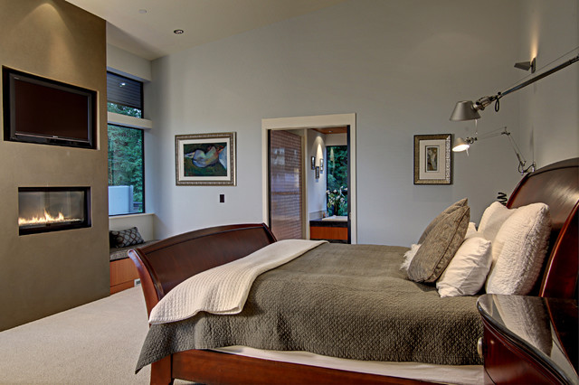 Forest House modern bedroom