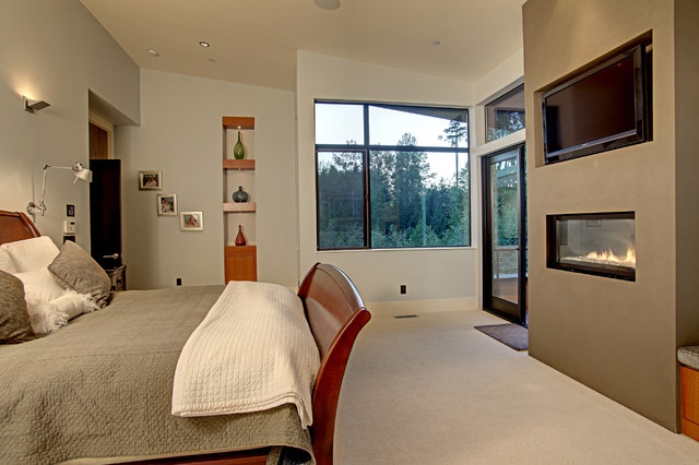 Forest House contemporary-bedroom