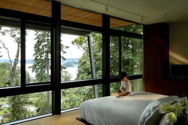 Fort Ward Bunker House modern-bedroom