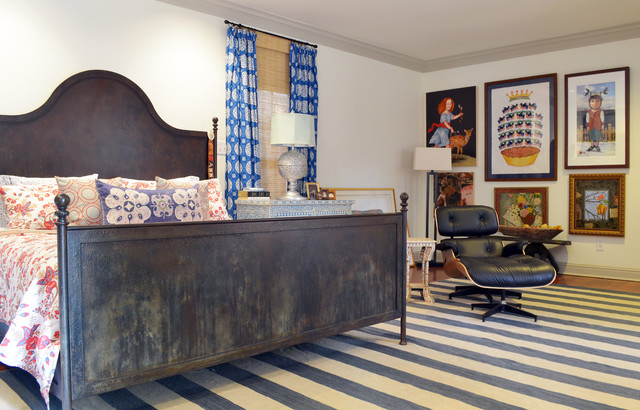 Fort Worth, TX: Mike & Ann Williams eclectic-bedroom