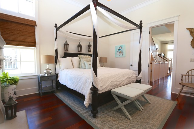 Four Poster Master Suite Beach Style Bedroom