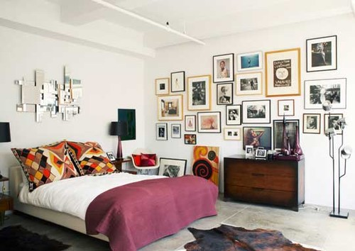 frames eclectic bedroom