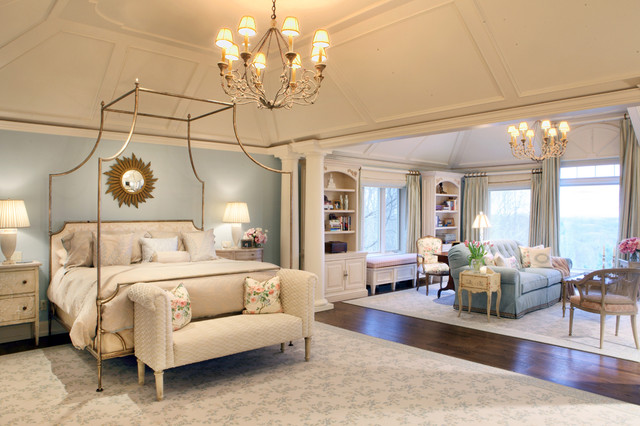 Franklin Lakes French Manor Contemporary Bedroom New